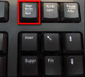 La touche Impr écran sur un clavier standard