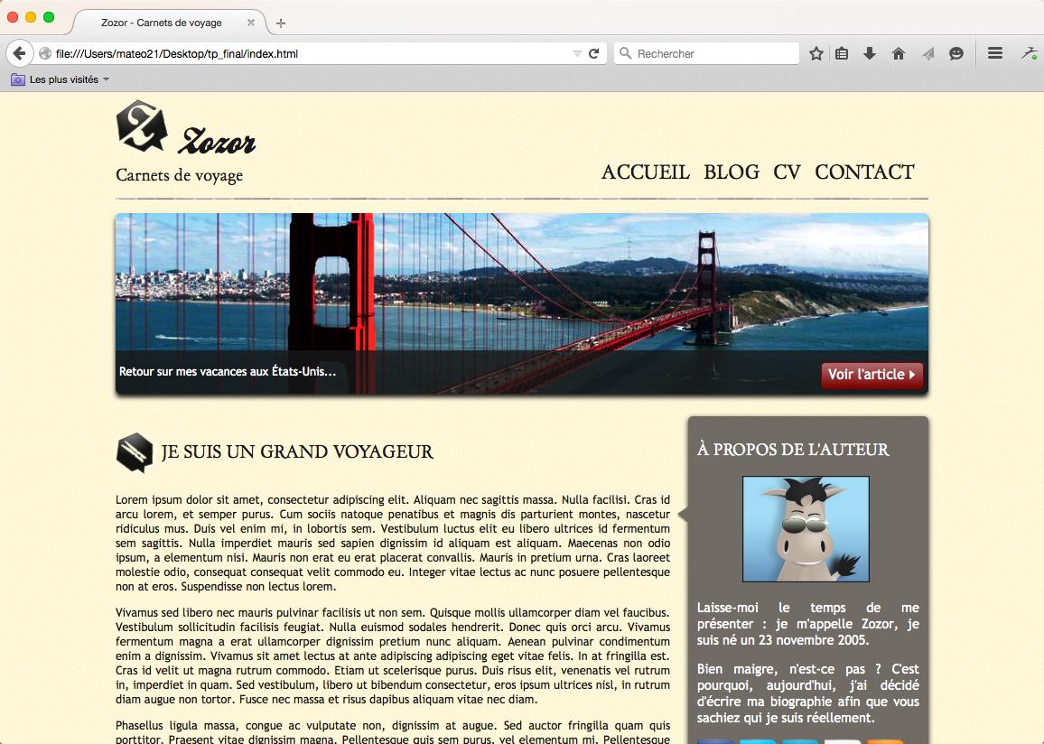 Ouf ! Le site s'affiche bien aussi sur Firefox !