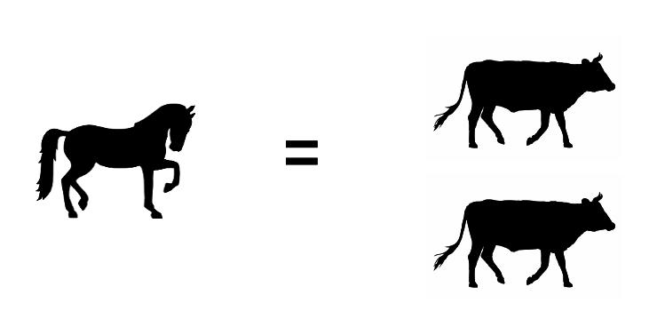 Un cheval vaut deux boeufs