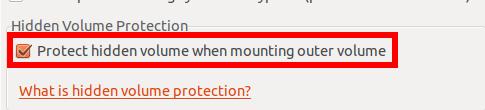 Protéger le volume caché en écriture