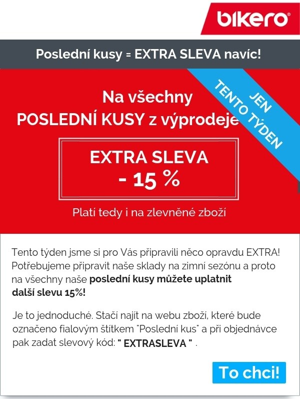 Bikero sleva 15% na poslední kusy - Slevový kupon bikero - Kuponka.cz 0b0474c106