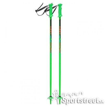 04b0586c1 Detské lyžiarske palice Leki RIDER NEON GREEN priemer 14mm, aluminium TS  4.5, kompaktné detské rukoväte, pútko a špičky.