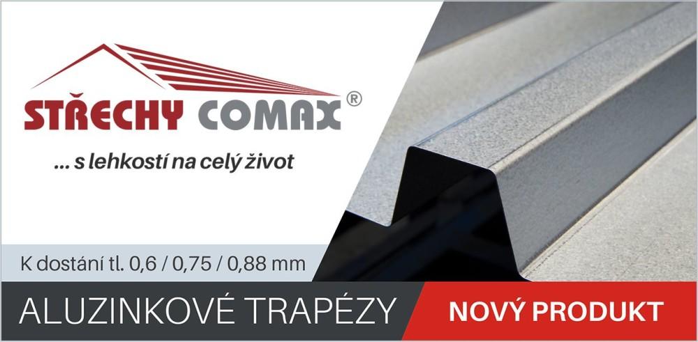 Aluzinkové trapézy - střechy comax