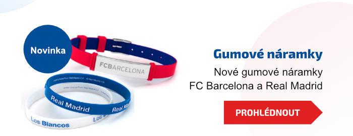 Gumové náramky. Nové gumové náramky FC Barcelona a Real Madrid