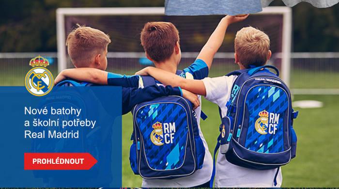 Nové batohy a školní potřeby Real Madrid