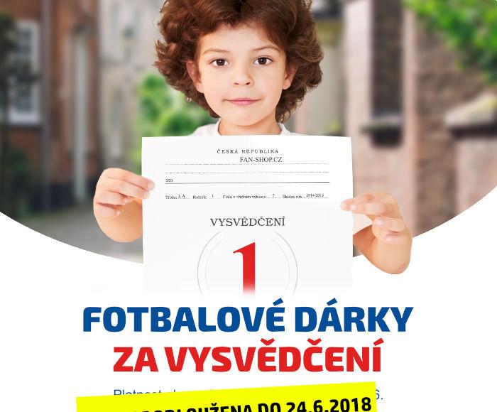 Fotbalové dárky za vysvědčení. Platnost akce od pondělí 18.6. do pátku 22.6.