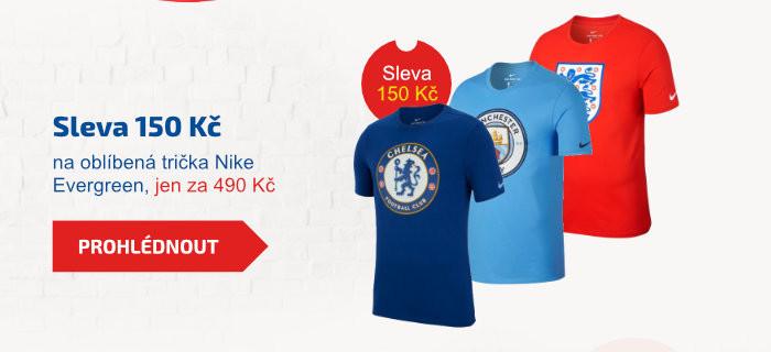 Sleva 150 Kč na oblíbená trička Nike Evergreen, jen za 490 Kč