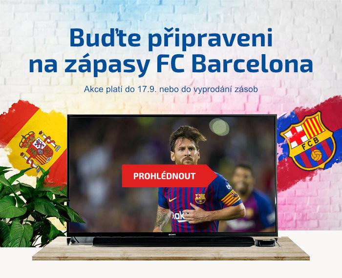 Buďte připraveni na zápasy FC Barcelona. Akce platí do 17.9. nebo do vyprodání zásob