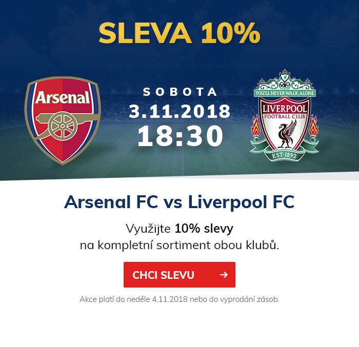 Šlágr Premier League ARSENAL FC vs LIVERPOOL FC