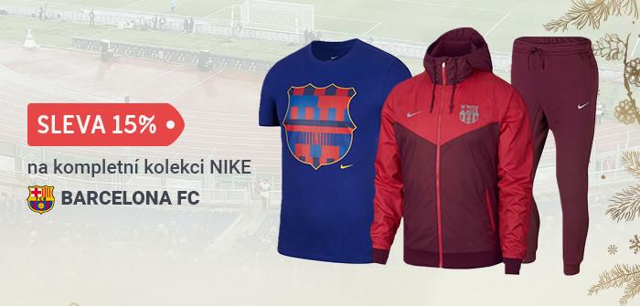 Sleva 15% na kompletní kolekci NIKE 2018 pro FC Barcelona.