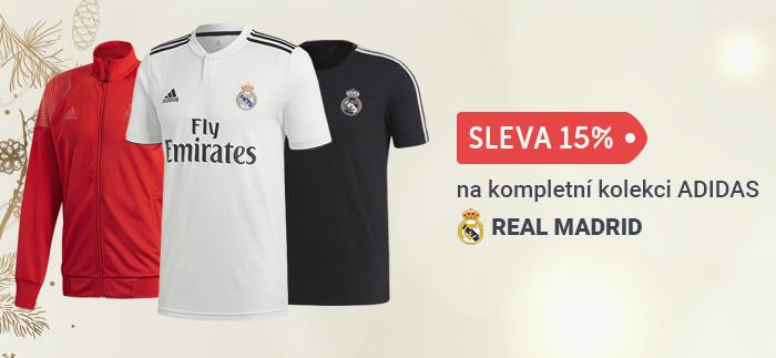 Sleva 15% na kompletní kolekci ADIDAS 2018 pro Real Madrid.
