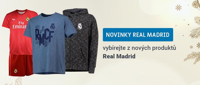 Nové oblečení a suvenýry Real Madrid