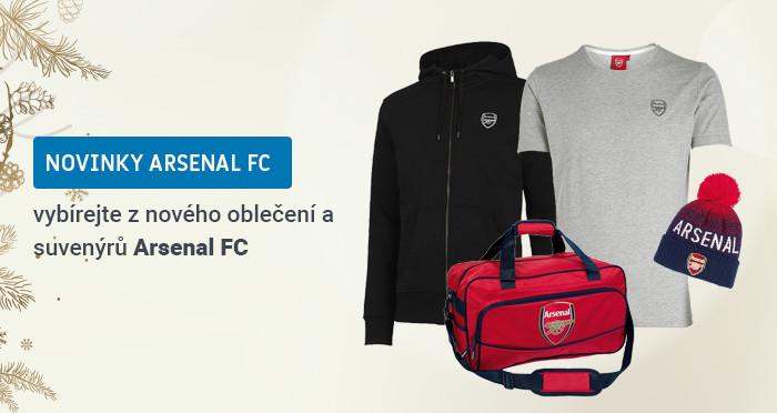 Nové oblečení a suvenýry FC Arsenal