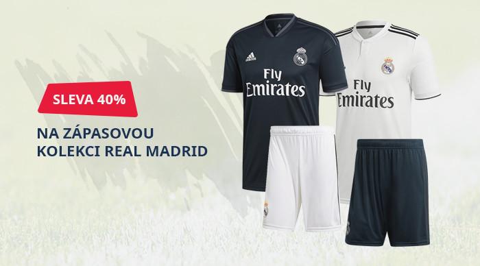 Sleva 40% na zápasovou kolekci REAL MADRID