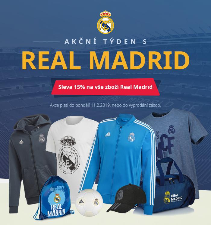Akční týden s REAL MADRID. Akce platí do pondělí 11.02.2019 nebo do vyprodání zásob