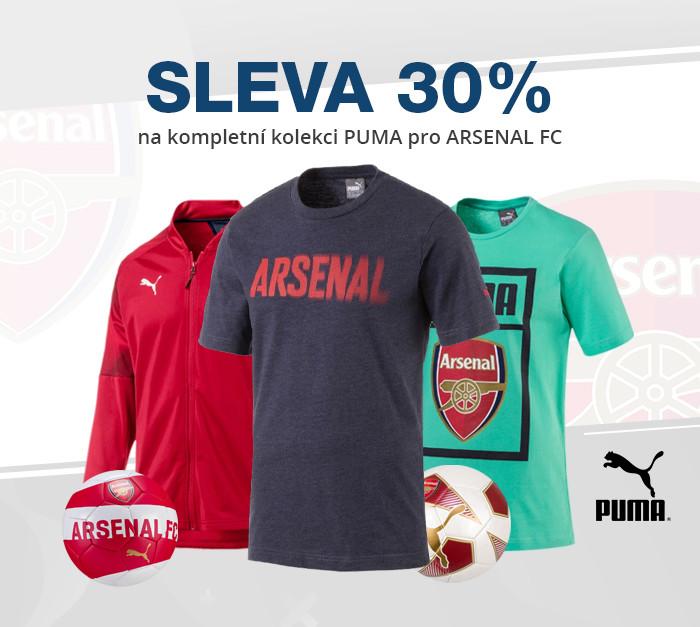 Sleva 30% na kompletní kolekci PUMA pro Arsenal FC