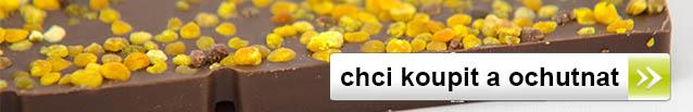 Chci ochutnat čokoládu s pylem