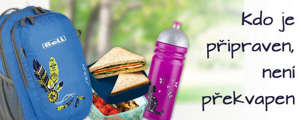 Vybavte se na výlet - svačinové boxy, lahve, batohy
