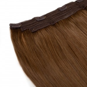 Caramel Clip In 1 Piece Remy Hair 55cm