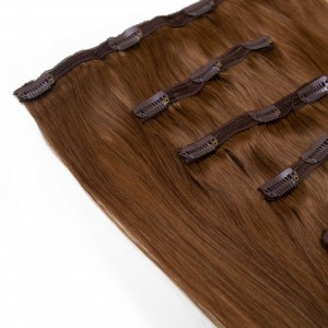 Caramel Clip In 5 Pieces Remy Hair 55cm