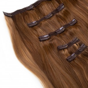 Caramel Blend Clip In 5 Pieces Remy Hair 55cm