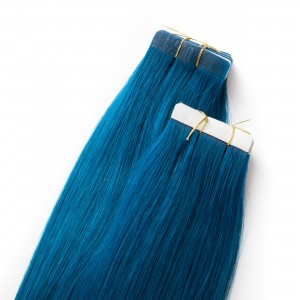 Electric Blue Tape Virgin Remy 55cm