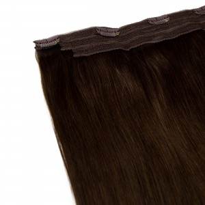 Espresso Clip In 1 Piece Remy Hair 55cm