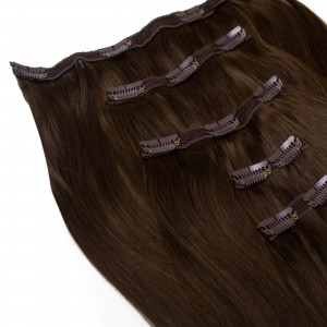 Espresso Clip In 5 Pieces Remy Hair 55cm