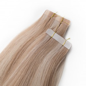 Milkshake/Cinnamon Piano Color Tape Virgin Remy 68cm