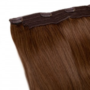 Mocha Clip In 1 Piece Remy Hair 55cm