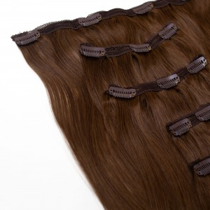 Mocha Clip In 5 Pieces Remy Hair 55cm