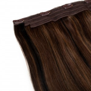 Mocha Blend Clip In 1 Piece Remy Hair 55cm