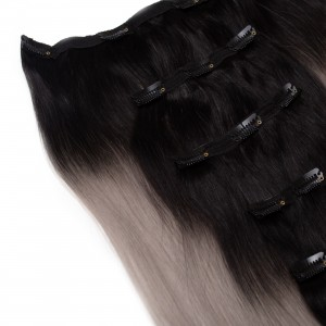 Salt n Pepper Clip In 5 Pieces Remy Hair 55cm