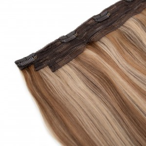 Vanilla Blend Clip In 1 Piece Remy Hair 55cm