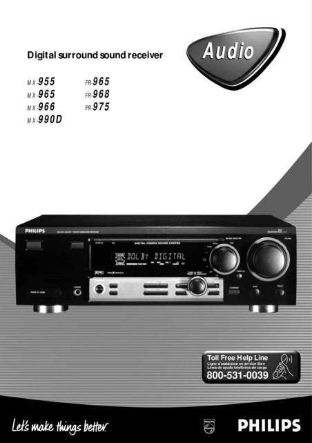 Philips RECEIVER - User manual