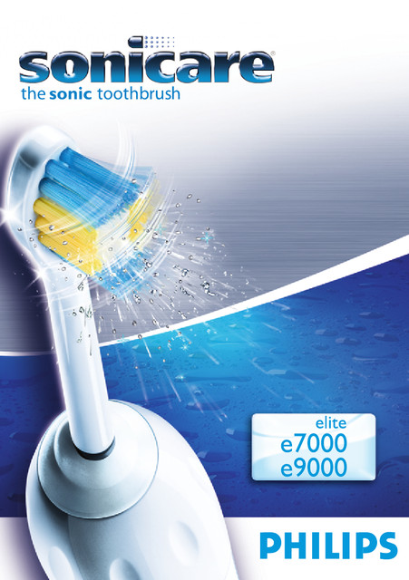 Philips Sonicare Elite Rechargeable sonic toothbrush HX9552 - User manual