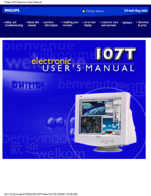 Philips 107S - User manual