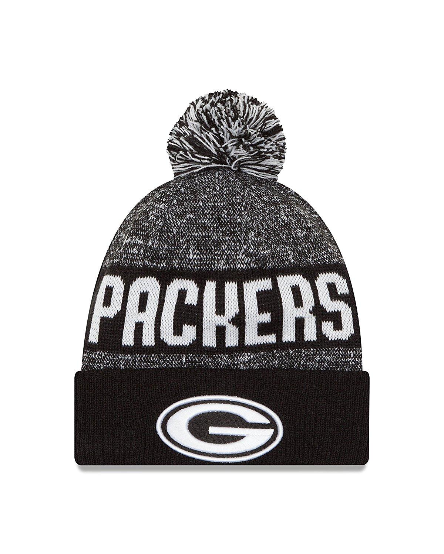 Green Bay Packers NFL 2016 Sport Knit Beanie Black White ... f42e80029