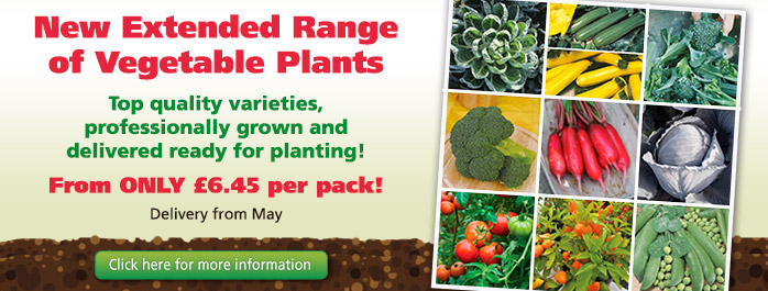 The New Extended Range of Vegetable Plants