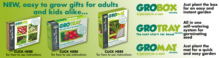 GroBox, GroTray and GroMat Gardens