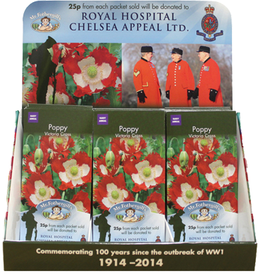 Royal Hospital Chelsea Hospital Appeal counter top display