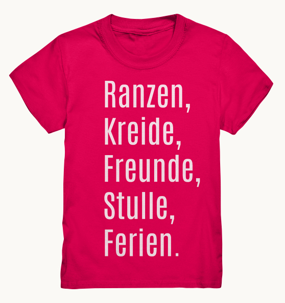 Schulkind T-Shirt in beerigem Pink