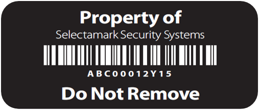 Tesa Security Labels - Black
