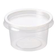 Disposable rPet Portion Pots & lids 100% recyclable