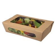 boarded Salad Containers Kraft