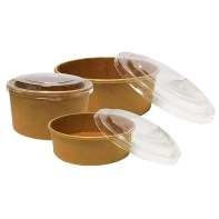 These bowls are safe and convenient takeaway packaging that can be bespoke printed.