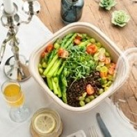 100% Compostable pulp Salad Containers