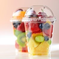 rPet 100% recyclable cold smoothie cups