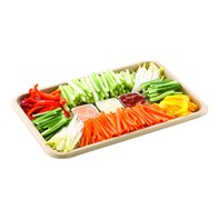 Medium Pulp Platter 35x24cm Pack 150  trays