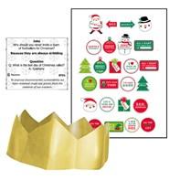 "11"" Plastic-free Kraft Holly Crackers Qty 100"